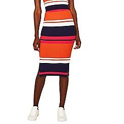 Oasis - Multi stripe knitted skirt