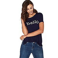 Oasis - Navy hello t-shirt