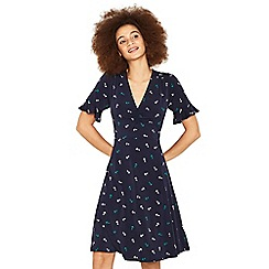 Oasis - Navy long length anchor tea dress