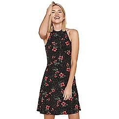 Oasis - Poppy spot flippy dress