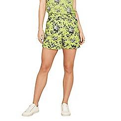 Oasis - Multi yellow 'Provence' print shorts