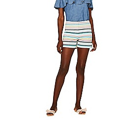 Oasis - Multi rainbow stripe shorts