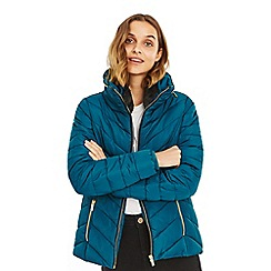 Oasis - Teal 'Camber' short padded jacket