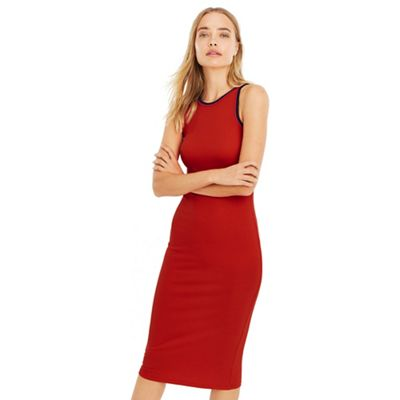 Oasis   Red Sport Plain Tube Dress by Oasis
