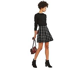 Oasis - Black and white 'Charlotte' check knit skirt