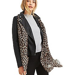 Oasis - Leopard animal print lightweight scarf