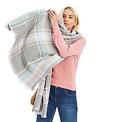 Oasis - Multi grey 'Annie' check scarf