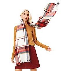 Oasis - Multi orange 'Annie' check scarf