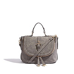 Oasis - Dark grey 'Steffi' satchel