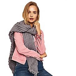 Oasis - Mid grey 'Sydney' crinkle scarf