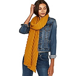 Oasis - Ochre 'Sydney' crinkle scarf