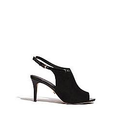 Oasis - Black poppy peeptoe heels