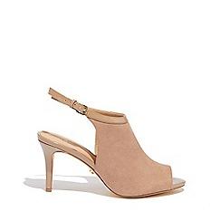 Oasis - Stone 'Poppy' peeptoe heels