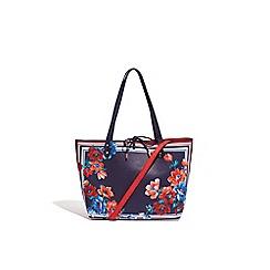 Oasis - Multi blue reversible scarf print shopper bag