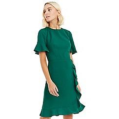 9d2671d6e2 Oasis - Bright green ruffle texture dress