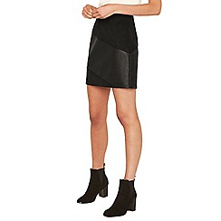 Oasis - Black faux leather patched mini