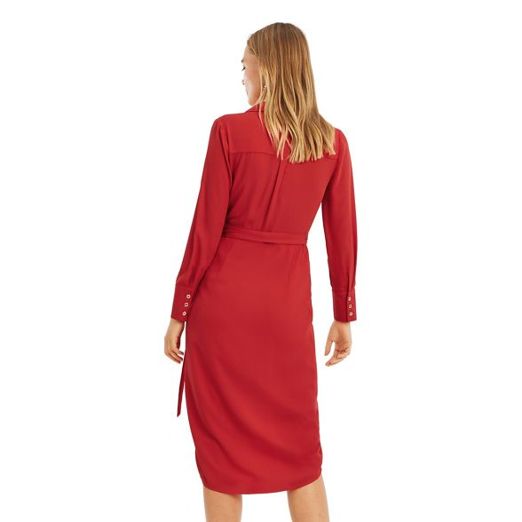 sexy red dress Oasis wrap Mid shirt qBxv1WCEwp