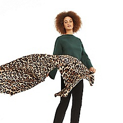 Oasis - Nude 'Anya' animal print scarf