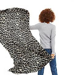 Oasis - Mid grey 'Anya' animal print scarf