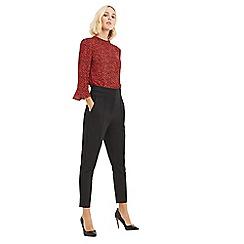 Oasis - Black high waist trousers