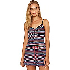 Oasis - Multi blue stripe rainbow camisole