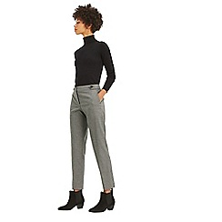 Oasis - Grey dogtooth button detail trousers