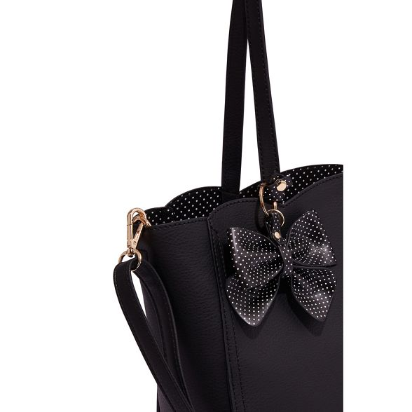 'Tina' Black tote bag Oasis scallop 4UqXw