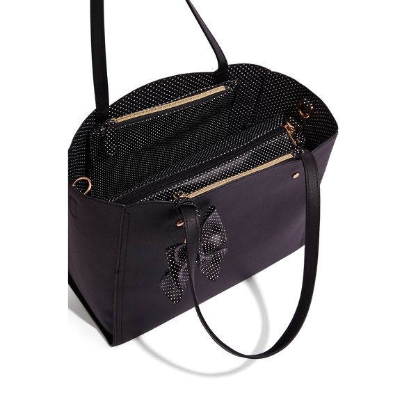 Black scallop 'Tina' bag tote Oasis wFqEC5