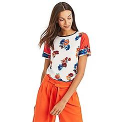 Oasis - Multicoloured foulard border woven t-shirts