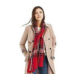Oasis - Multi red crinkle check scarf