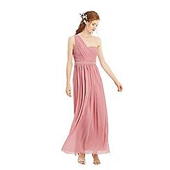 Oasis - Pale pink 'Maddie' one shoulder chiffon maxi dress