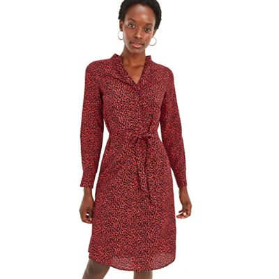3bcd6d87dc9 Oasis Multi red animal shirt dress | Debenhams