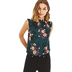 Oasis - Multi green 'Frieda' floral pie crust shell top