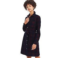 Oasis - Multi Check Cord Western Dress