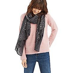 Oasis - Light blue star foil midweight scarf