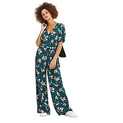 Oasis - Multi green rose floral jumpsuit