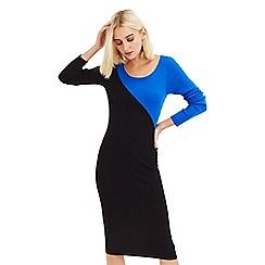 Oasis - Multi black 'breanna' colourblock dress
