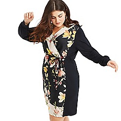 Oasis - Multi black Curve scarf woven wrap dress