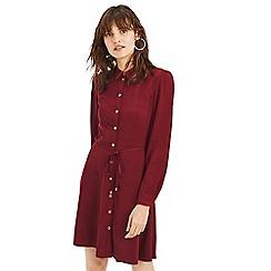 Oasis - Burgundy skater shirt dress