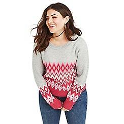Oasis - Multi pink Curve 'Esme' fairisle jumper