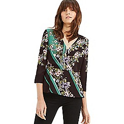 Oasis - Multi scarf placement wrap top