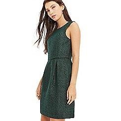 Oasis - Multi green tweed dress