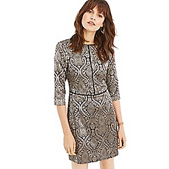 Oasis - Multi black baroque jacquard shift dress