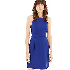Oasis - Mid Blue Lace Back Shift Dress