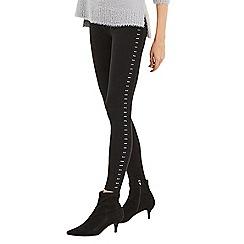 Oasis - Black studded side leggings