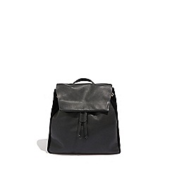Oasis Black Leather Backpack