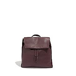 Oasis Burgundy Leather Backpack