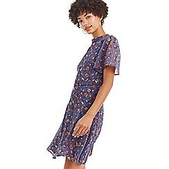 Oasis - Multi blue sparkle skater dress