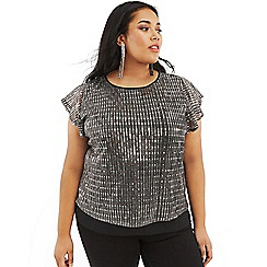 Oasis - Silver Curve sequin plisse tee