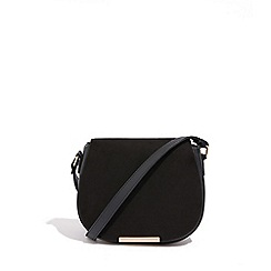 Oasis Black Maxi Me Suedette Saddle Bag